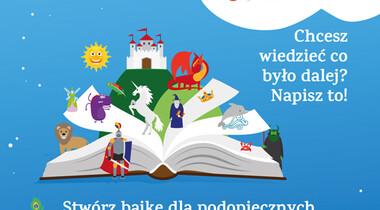 """plakat konkursu """"Napisz bajkę dla Podopiecznych Fundacji Radia ZET"""